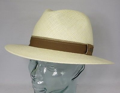 MAYSER EDGAR Panamahut Strohhut Panama Hut Wasserabweisend UV Protect Neu