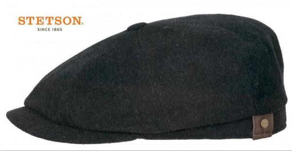 STETSON HATTERAS Mütze Flatcap Schiebermütze anthrazit Cap Wintermütze Neu