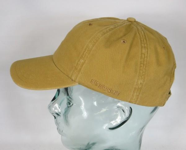 STETSON RECTOR Baseball Cap Basecap Kappe Mütze braun Baumwolle Sun Guard NEU