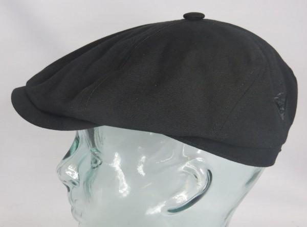 STETSON x FORVERT BROOKLIN CANVAS Mütze Flatcap Schiebermütze Cap schwarz NEU
