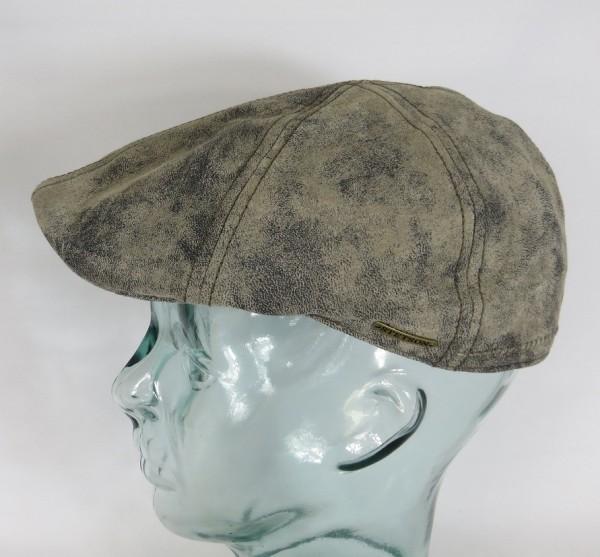 STETSON TEXAS Pigskin Leder Flatcap Mütze Ivy Cap Leather Gatsby braun 6617101 NEU