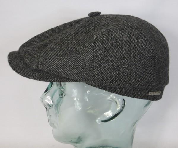 STETSON HATTERAS Mütze Flatcap Schiebermütze Cap Kappe 6840107 Bakerboy grau Neu