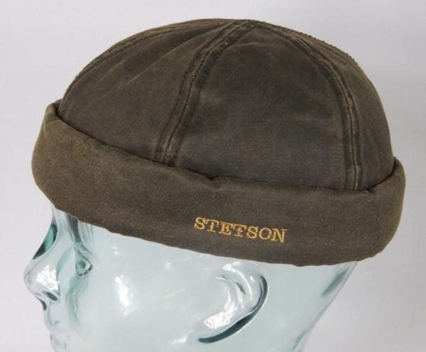 STETSON Docker Mütze Skullcap Docker Cap Wintermütze gefüttert braun 8821105 NEU