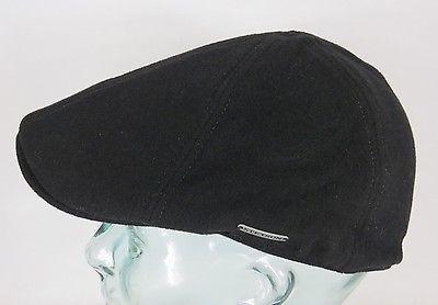 STETSON TEXAS Wool Flatcap Mütze Ivy Cap Wintermütze Gatsby schwarz Neu