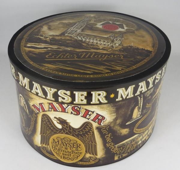 Original MAYSER Nostalgie Hutschachtel / Hutkarton / Hutbox / Hutkoffer Hut NEU