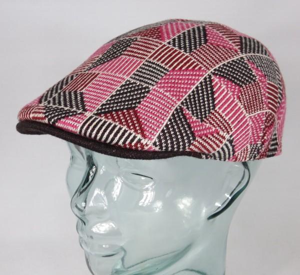 KANGOL Tiled 507 Flatcap Ivy Cap Golfcap Gatsby Schiebermütze electric pink NEU