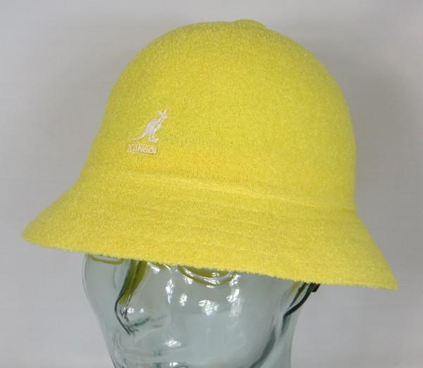 KANGOL BERMUDA CASUAL Bucket Hat Bobby gelb Sommer Hut Mütze Cap NEU