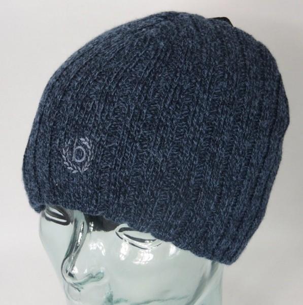 BUGATTI Strickmütze WINDSTOPPER Mütze Wollmütze Skimütze Beanie blau Neu