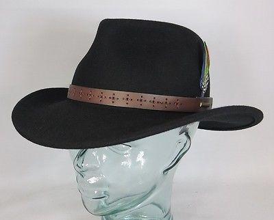 STETSON Westernhut Cowboyhut Wollfilz Hut schwarz Western Cowboy Hat 2798113 NEU