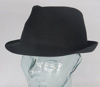 STETSON TETON TRILBY HUT Cotton schwarz Trilbyhut Baumwolle Hat 1111101 NEU