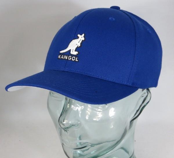 KANGOL 3D Wool Flexfit Mütze Basecap Schild Cap Baseballmütze Hut blau NEU