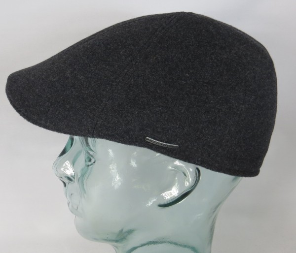 STETSON TEXAS Wool Flatcap Mütze Ivy Cap Gatsby anthrazit 6610102 Neu