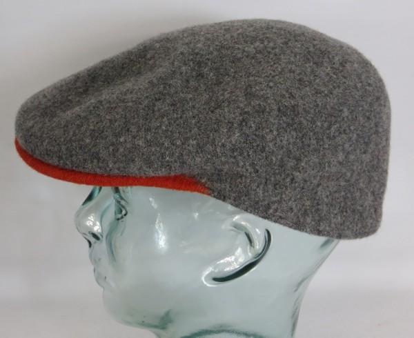 KANGOL WOOL 504-S Flatcap grau Wolle Mütze Cap Pepe Kangolmütze Kangolcap Neu