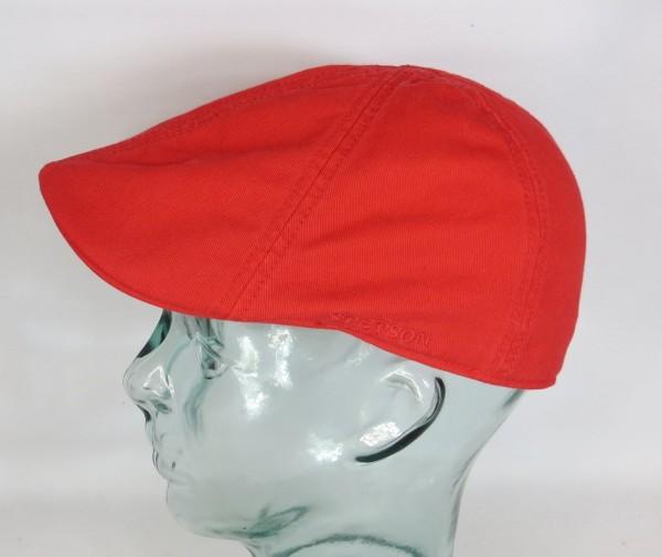 STETSON TEXAS Flatcap Mütze Ivy Cap Cotton Baumwolle Gatsby 6611105 rot NEU