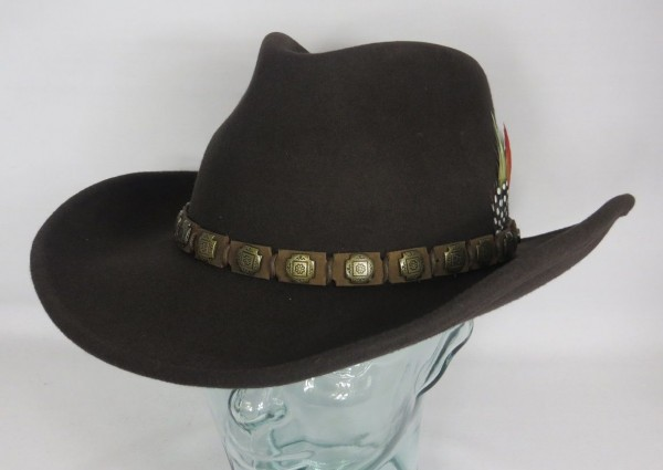 STETSON HACKBERRY Western Hut Cowboyhut Wollfilz braun Cowboy Hat 3598102 NEU