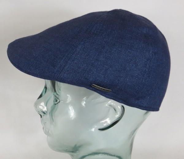 STETSON TEXAS Leinen Flatcap Schieber Mütze Ivy Cap Gatsby 6613106 blau NEU