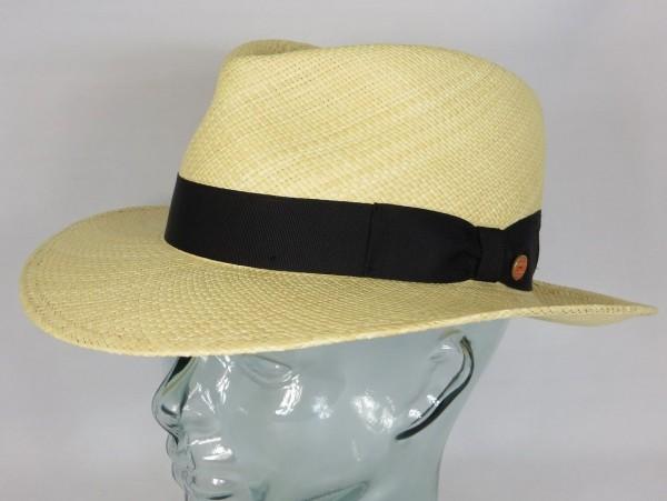 Echter MAYSER PANAMAHUT COLMAR eleganter Strohhut Panama Natur Sonnenhut Hut NEU