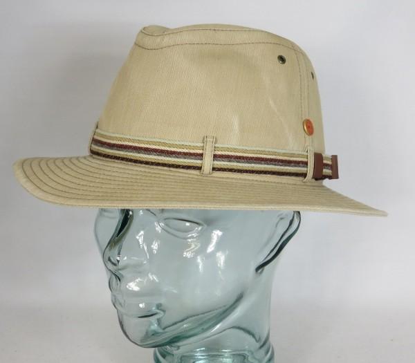 MAYSER MENOWIN Outdoor Hut Baumwolle UV Schutz 80 Stoffhut Traveller beige Neu