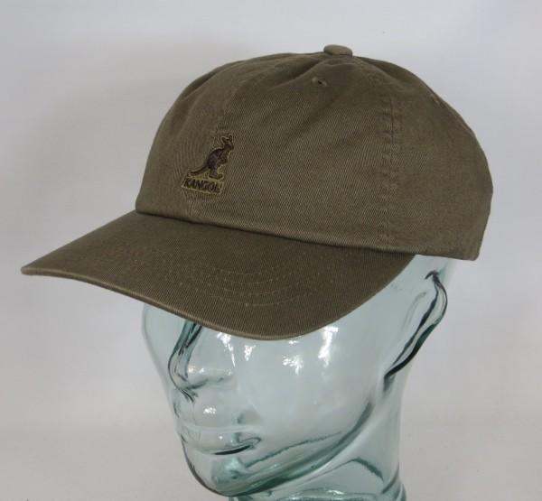 KANGOL WASHED BASEBALL CAP Cotton Basecap Baumwolle Sommer Mütze oliv Neu