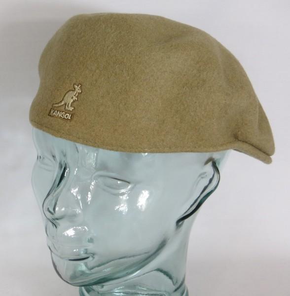 KANGOL WOOL 504 Flatcap taupe beige Wolle Mütze Cap Pepe Schiebermütze Neu