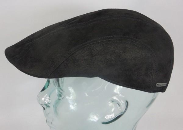 STETSON Madison Leather Flatcap Leder Ivy Cap Mütze Hut schwarz Schirmmütze NEU