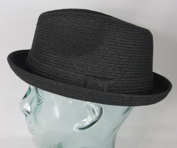 Bailey Hats Billy Player Pork Pie Trilby Hut Hat Strohhut Sommerhut schwarz Neu