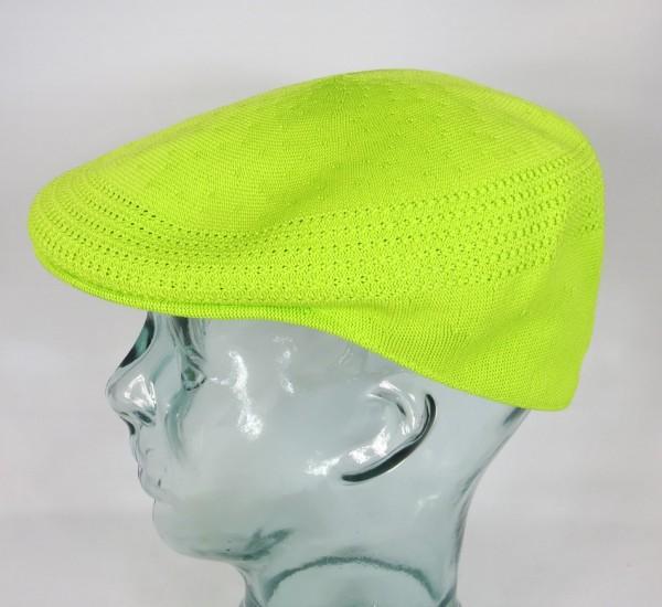 KANGOL TROPIC VENTAIR Flatcap 504 Cap grün Bio Lime Mütze Golfcap NEU