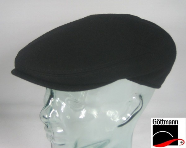 GÖTTMANN GLASGOW Sportmütze Flatcap Schwarz Mütze Kappe Schirmmütze NEU