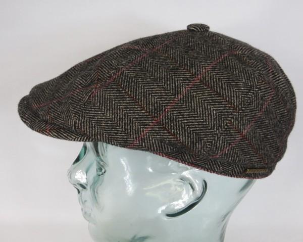 STETSON 6-Panel Cap Mütze Flatcap Schiebermütze Bakerboy 6640505 Fishgrat NEU