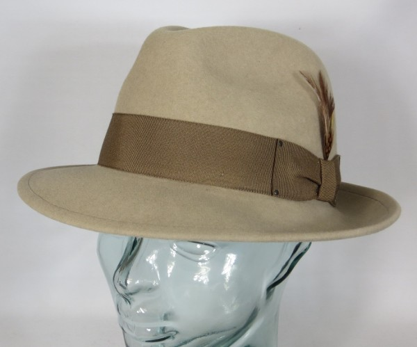 BAILEY OF HOLLYWOOD BLIXEN Fedora Hut Wollfilz beige Wollhut Bogart Hat NEU