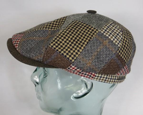 STETSON BROOKLIN PATCHWORK Mütze Flatcap Schiebermütze 6-Panel Cap Bakerboy NEU