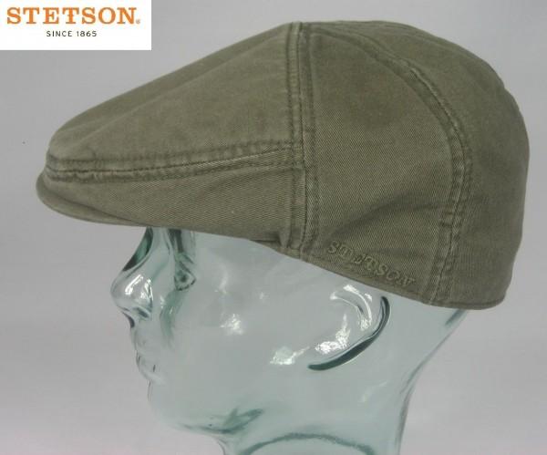 STETSON PARADISE Flatcap Baumwolle Sun Guard oliv Cap Mütze Sommermütze Neu