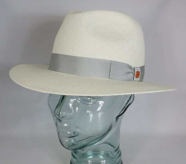 MAYSER Menton Panamahut Strohhut Panama Hut gebleicht Wasserabweisend Neu