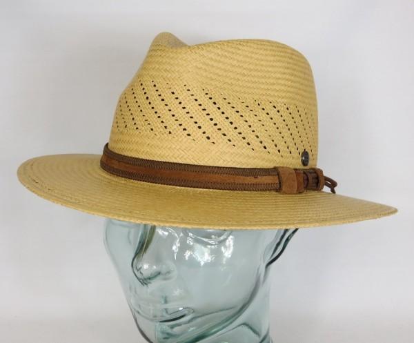 VINTIMILLA Panamahut Strohhut Fashion Panama Stroh Sommer Hut Traveller camel