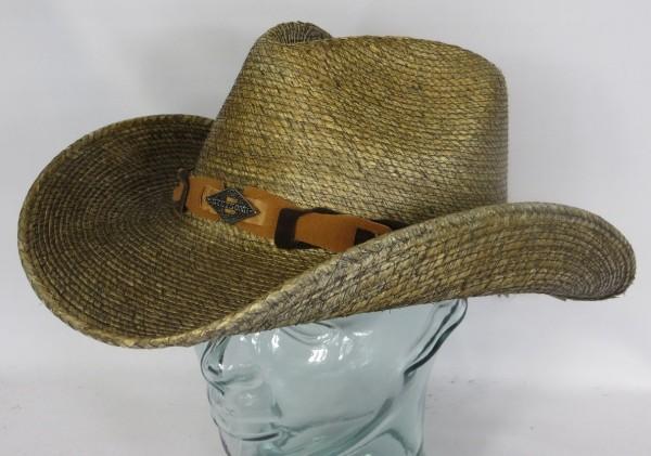 STETSON MONTERREY BAY MAIZE Stroh Hut Cowboy Western Hat Westernstrohhut 3698503 NEU