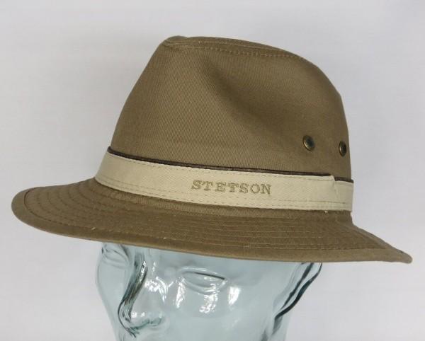 STETSON AVA Baumwolle Traveller Hut Trekking Outdoor UV Schutz braun Neu 2541120