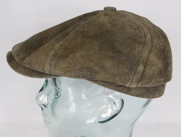 STETSON McCook Pigskin LEDER Flatcap 6-Panel Cap Mütze Schiebermütze Hut NEU