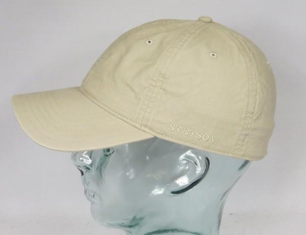 STETSON DUCOR Organic Cotton Basecap Sommer Mütze Kappe Cap beige UV Schutz NEU