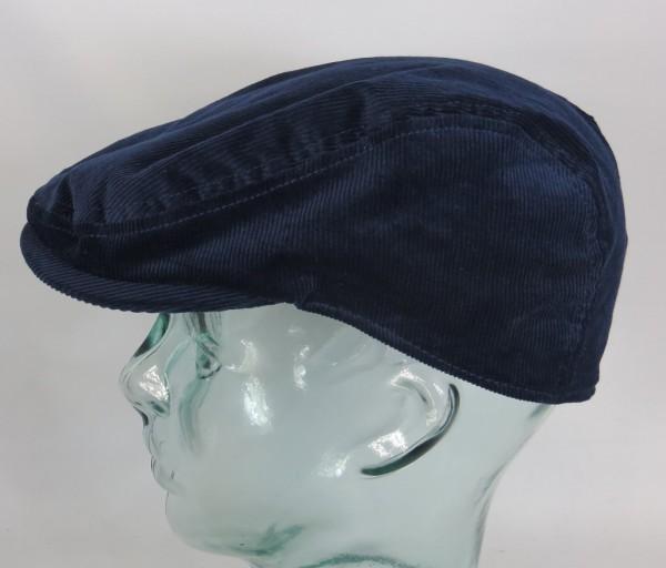 KANGOL CORD FLATCAP Schirm Mütze Cap Cotton Baumwolle Kord Kappe blau Neu