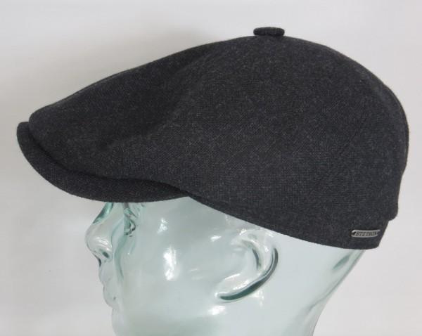 STETSON BROOKLIN 6-Panel Cap Mütze Flatcap Schiebermütze grau 6640102 NEU