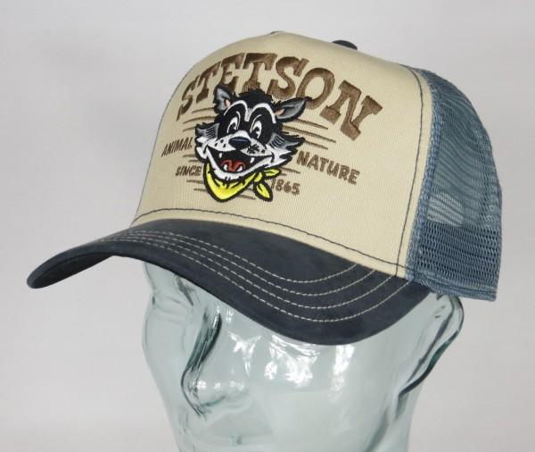 STETSON Trucker Cap Mesh Netz Kappe BASECAP SNAPBACK Animal Nature 7756113 NEU