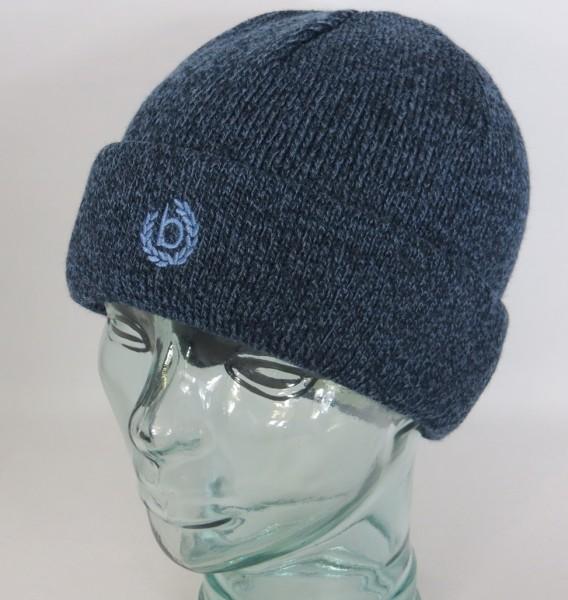 BUGATTI Strickmütze Mütze Beanie Pull on Cap Wollmütze Wintermütze blau Neu
