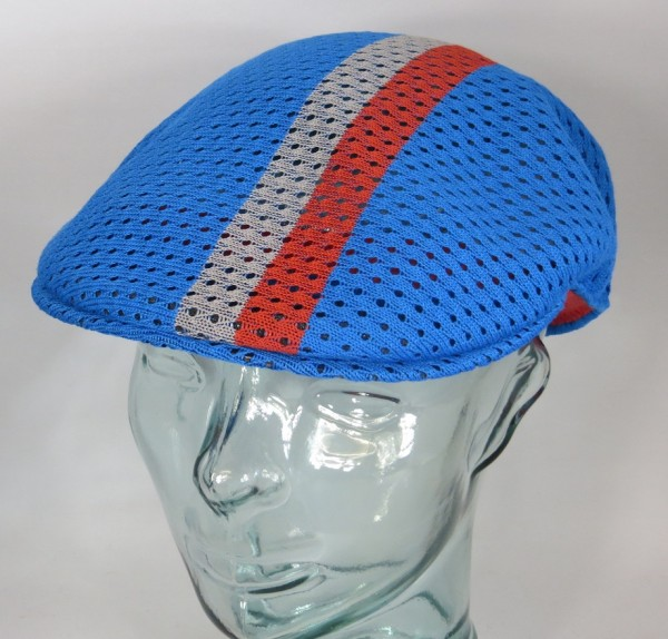 KANGOL MESH STRIPE 504 Flatcap Ivy Cap Sommermütze Golfcap Mütze blau NEU