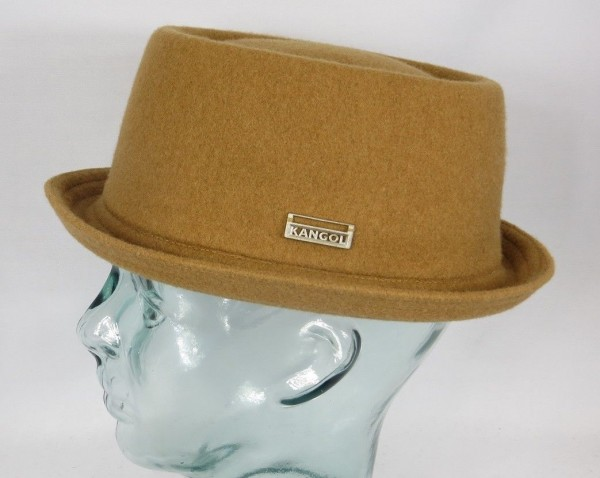 KANGOL WOOL MOWBRAY Pork Pie Hut Trilby Camel Mütze PorkPie Wollhut NEU