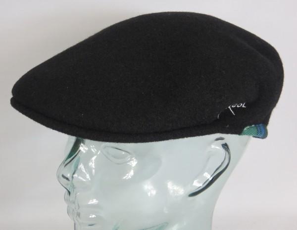 KANGOL WOOL 504 80th Anniversary Flatcap schwarz Wolle Mütze Golf Cap Neu
