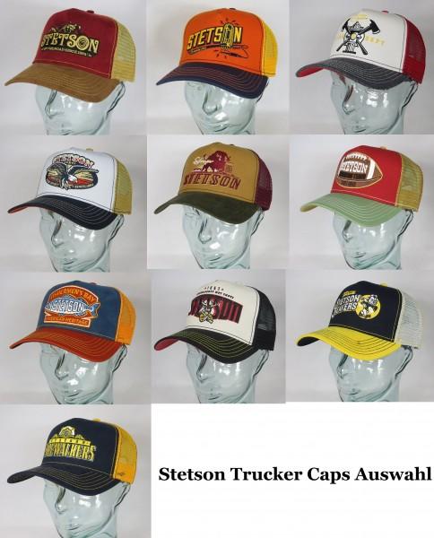 STETSON Trucker Cap Mesh Netz Kappe Basecap verschiedene neue Motive Auswahl Neu