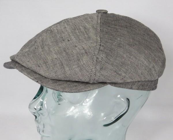 STETSON BROOKLIN Leinen Mütze Flatcap Schiebermütze Sommermütze 6-Panel Cap NEU