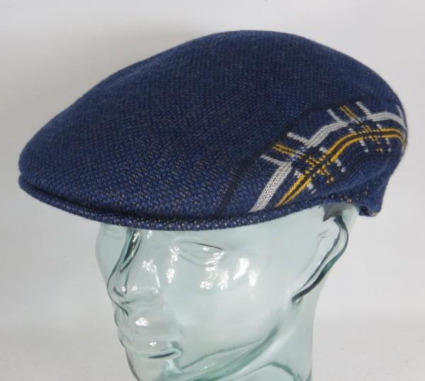 KANGOL PLAID STRIPE 504 Flatcap Ivy Cap blau Wintermütze Golfcap Mütze NEU