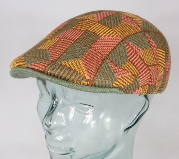 KANGOL Tiled 507 Flatcap Ivy Cap Golfcap Gatsby Schiebermütze warm apricot NEU