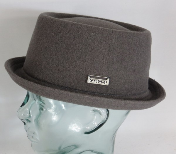 KANGOL WOOL MOWBRAY Pork Pie Hut Trilby grau Mütze PorkPie Wollhut NEU
